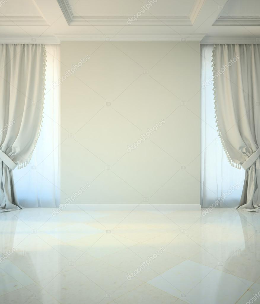 Empty room in classic style