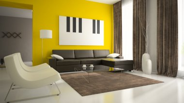 Part 5 of interior with yellow walls