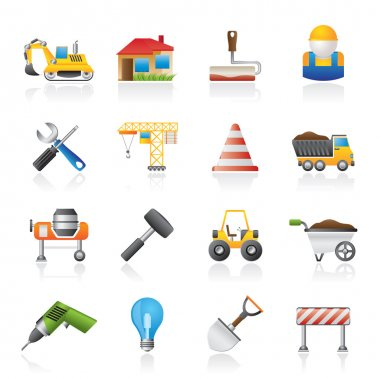 Building and construction icons