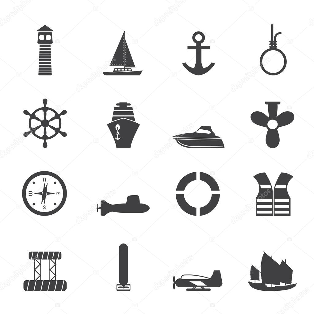 Silhouette Simple Marine, Sailing and Sea Icons
