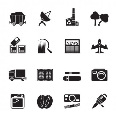Silhouette Business and industry icons