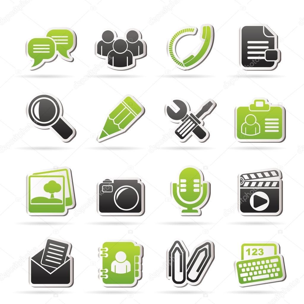 Chat Application and communication Icons