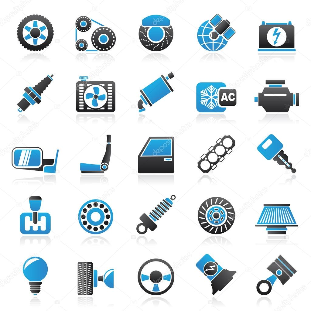 ᐈ Auto Parts Icons Stock Icon Royalty Free Car Parts Icon Vectors Download On Depositphotos