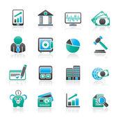 Podnikání, finance a banky ikony