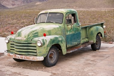 An Old Green Truck on Route 66