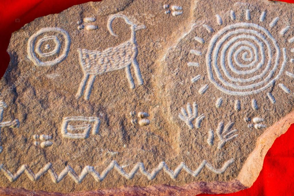 Native American Petroglyph Symbols Stock Photo Woodkern 40263927