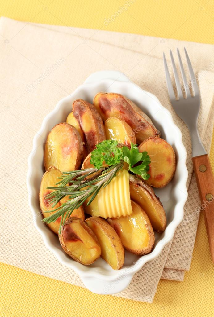 Roast potatoes with skin on — Stock Photo © ajafoto #40962781