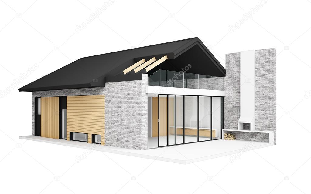 Kleines Modernes Haus U2014 Stockfoto