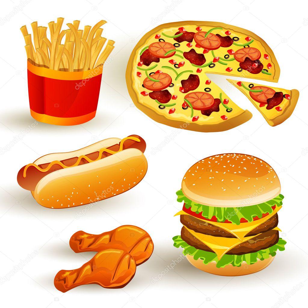 fast food set stock vector  u00a9 ramonakaulitzki 14551567 Funny Hot Dog Clip Art free hot dog cart clip art