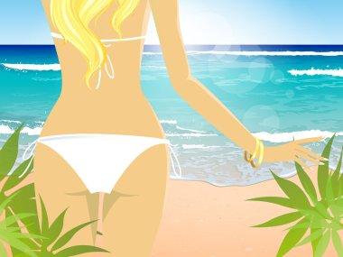 Bikini Girl on Beach