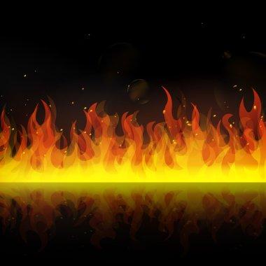 "Картина, постер, плакат, фотообои ""Горячий горящий огонь"", артикул 21355023"
