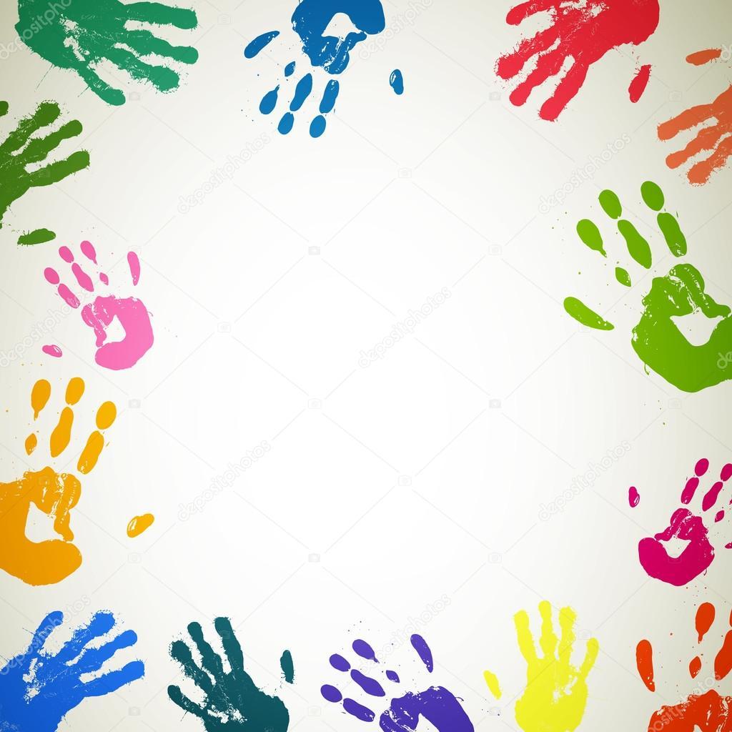 приготовить легкие картинка цветные ладошки рамка сказать