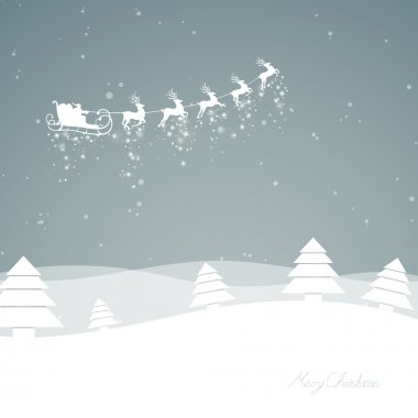 """Картина, постер, плакат, фотообои """"зимняя сцена - рождественская открытка """", артикул 38066959"""