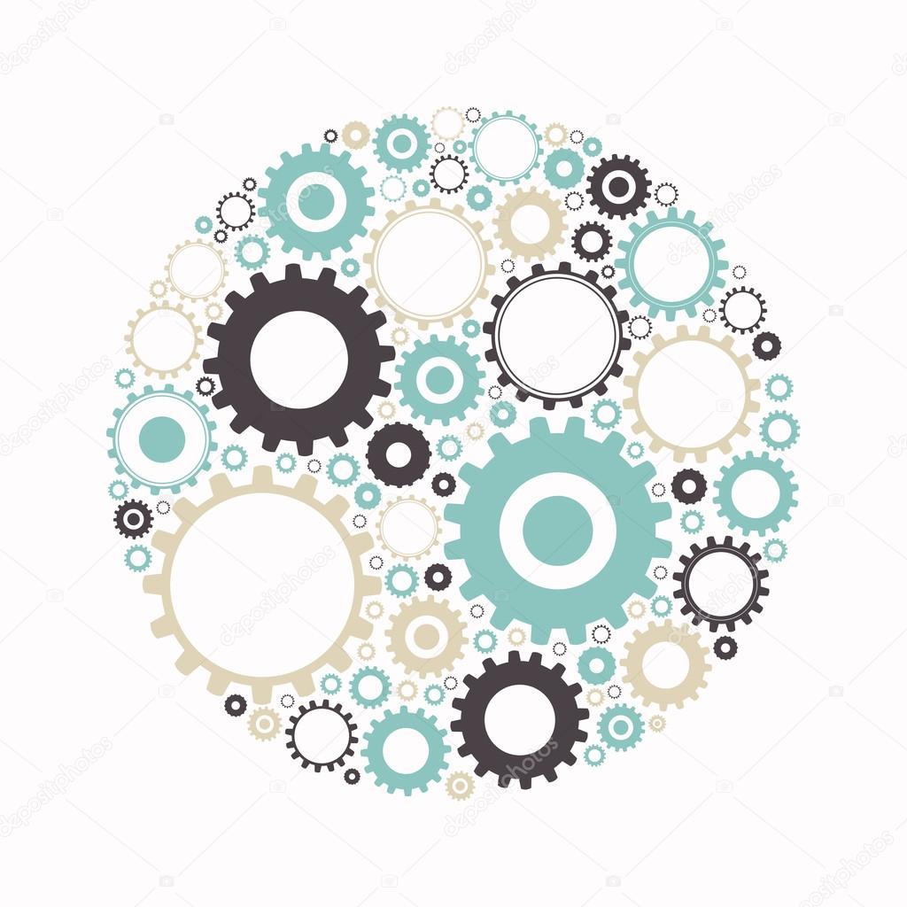 Vector Abstract Cog Wheels