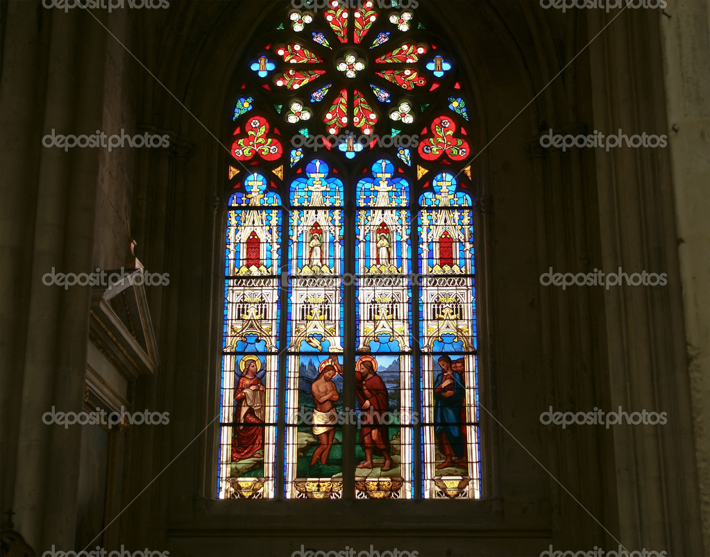 Fönster blyinfattade fönster : blyinfattade fönster. gotiska katedralen saint gatien ...