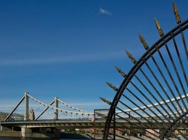 Krymsky Bridge or Crimean Bridge. Moscow. Russia