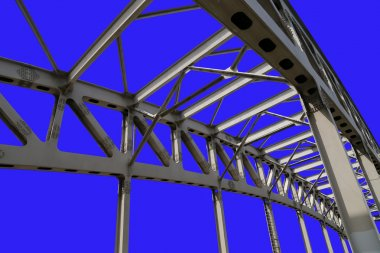 Metal structure of the bridge