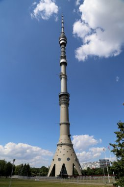 Ostankino television tower in Moscow, Russia. Standing 540.1 meters tall, it was the first free-standing structure in the world to exceed 500 meters in height.