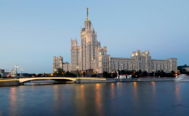 Kotelnicheskaya Embankment Building, Moscow, Russia-- is one of seven stalinist skyscrapers laid down in September, 1947 and completed in 1952