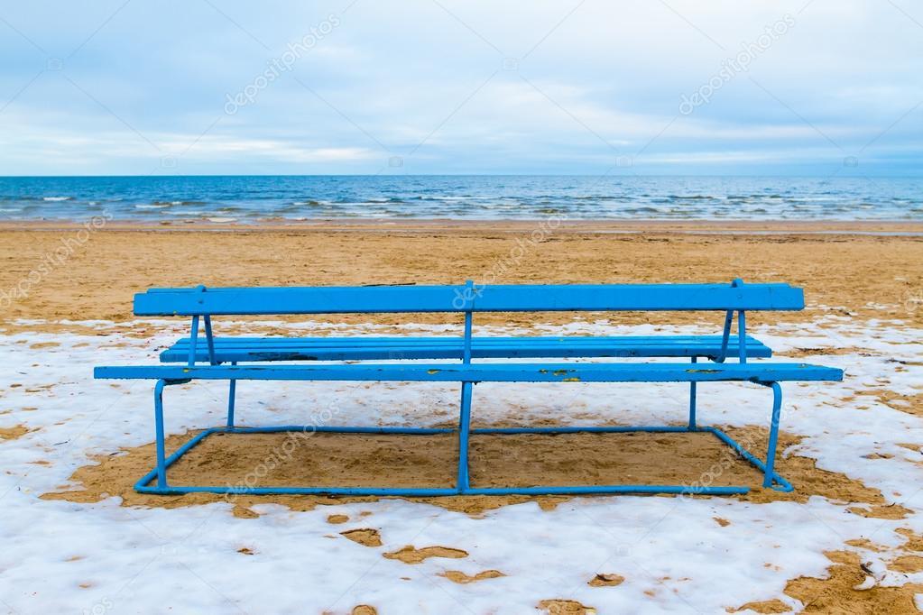 Winter view of a beach