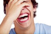 Közelkép a srác nevetve