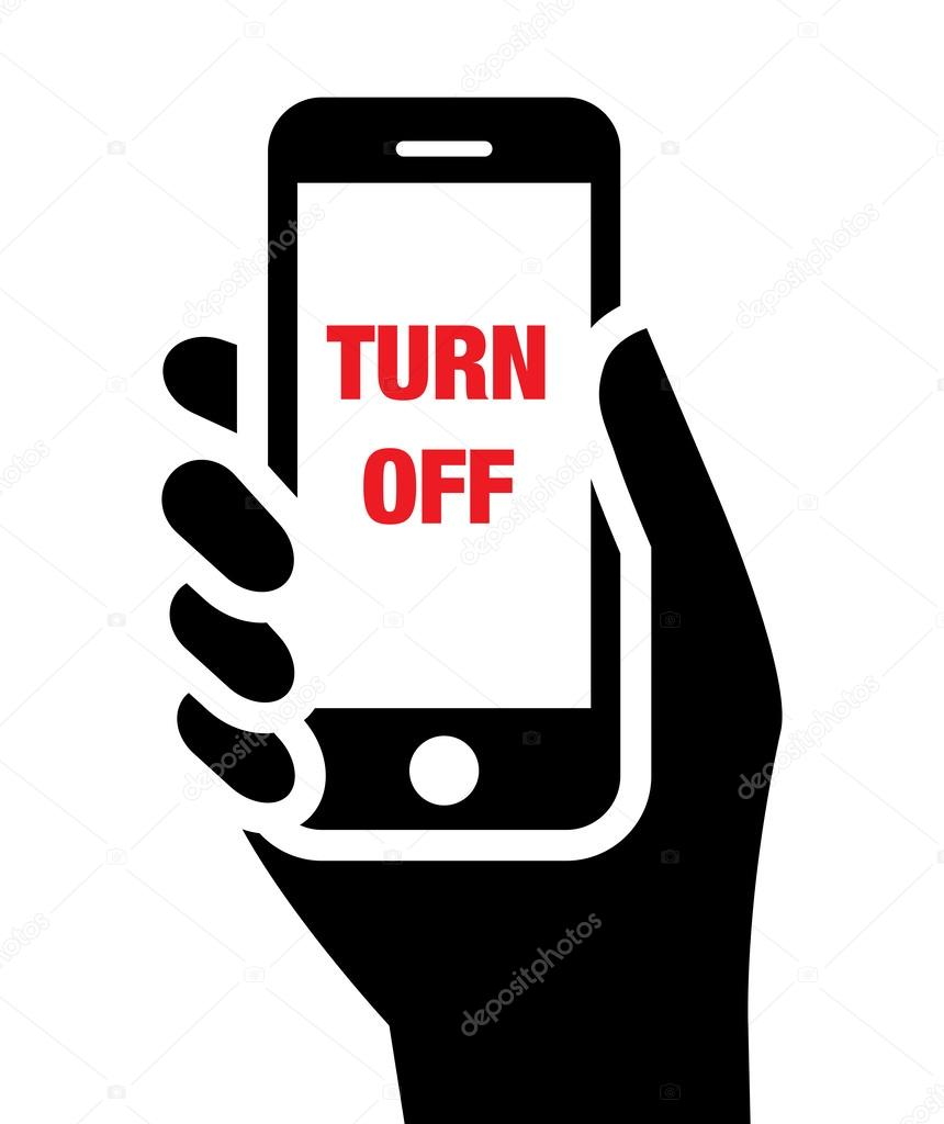 Turn Off Mobile Phones Icon Stock Vector Furtaev 29858921