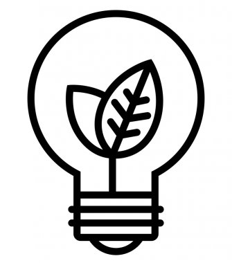 Ecology light bulb icon