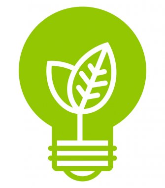 Green ecology light bulb icon