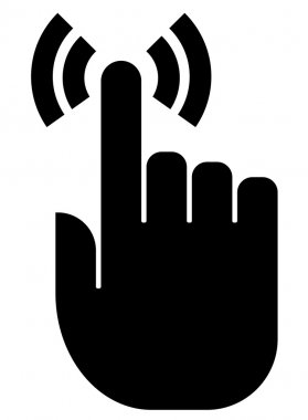Touch finger icon