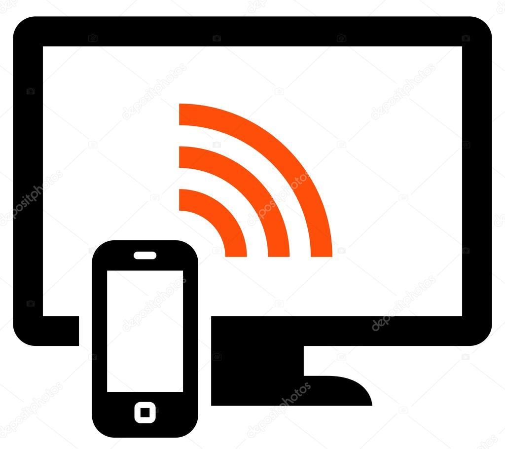 Phone remote control icon