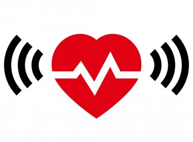 Heart rate with radio signal