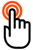 Hand touch outline icon
