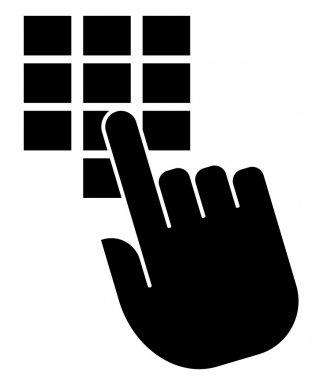 Enter code icon