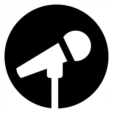 Microphone in circle icon