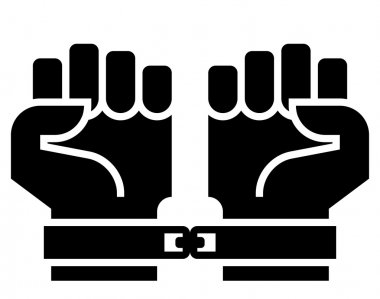 Chained hands icon
