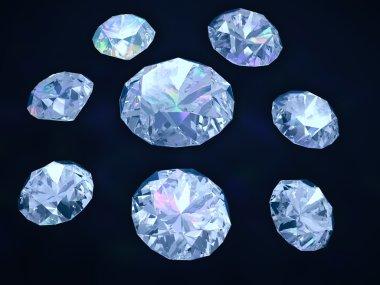 Diamonds on dark blue background