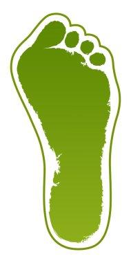 Old man green foot print