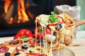 Fotografia gustosa pizza