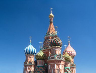 St. Basil's Cathedral on Red Square in Moscow Russia
