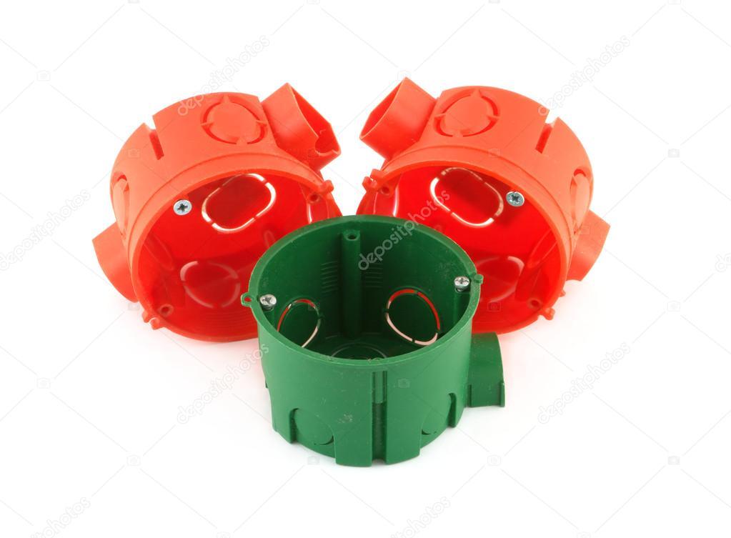 Farbe? Ontainers für elektrische Verkabelung Montage isoliert ...