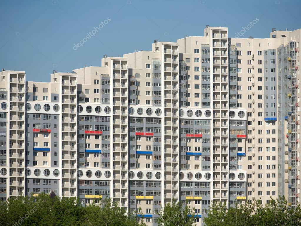 New modern block of flats in new city district