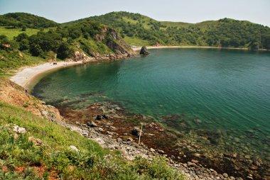 Beautiful seascape, Marble bay, Putyatin island, Far East, Primo