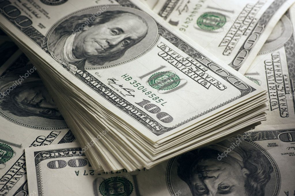 Dollars stack close-up Stock Photo by ©svl861 21072415