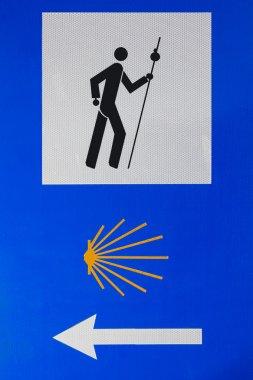 Sign of Camino de Santiago. Spain