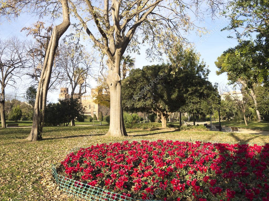 Flowery Corner Ciutadella Park.
