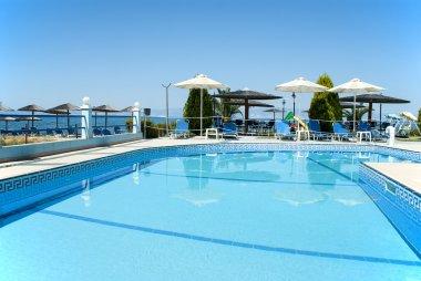 Swimming pool of luxury hotel, Greece