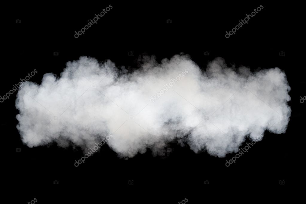 smoke cloud background on black