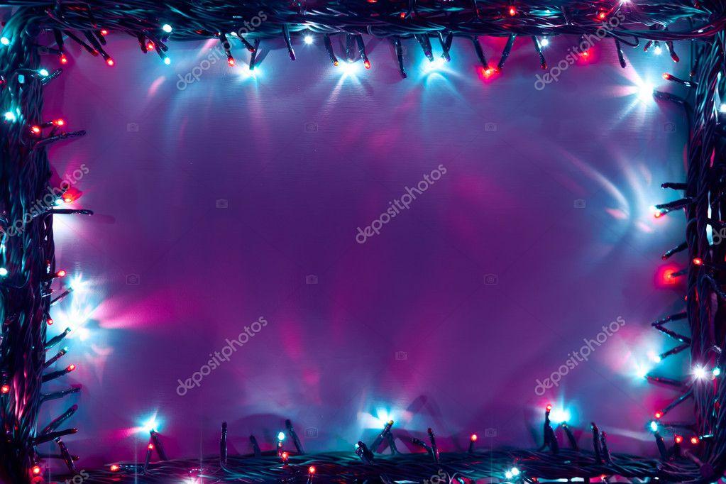 christmas lights frame backdrop