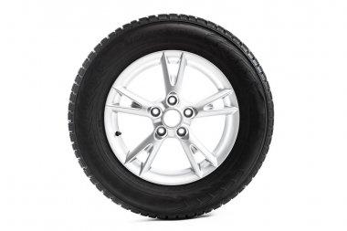 Winter wheel isolated on white stock vector