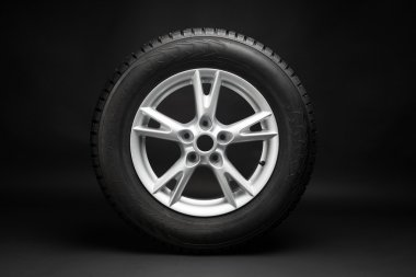 car tire with aluminum alloy wheel